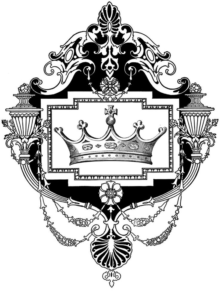 5 Point Crown Drawing
