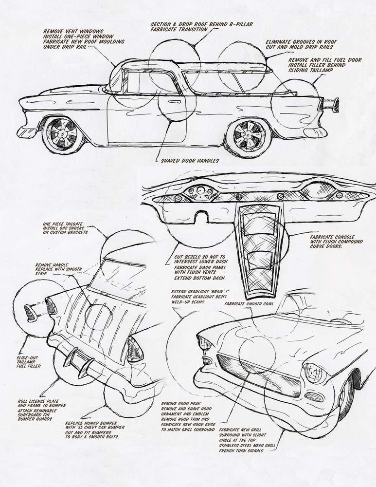 55 Chevy Drawing at GetDrawings   Free for personal
