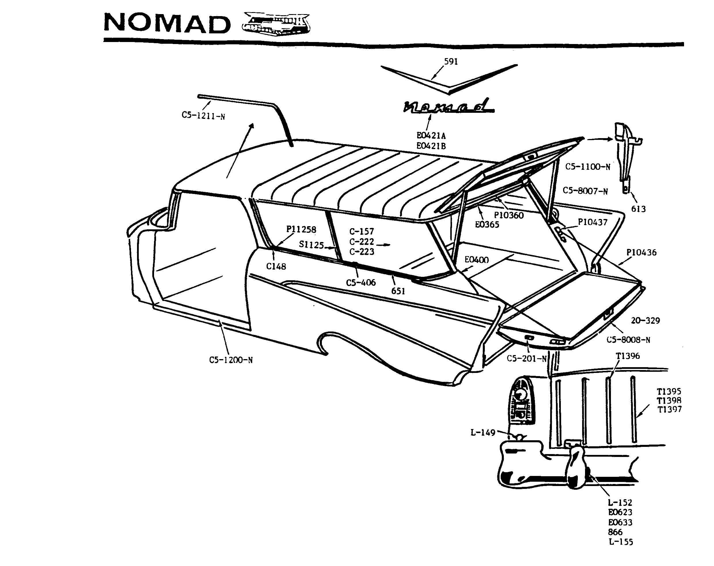 55 Chevy Drawing At Free For Personal Use Bel Air 57 Tailgate Diagram 2480x1967 Ralph Roberts Classic Supply