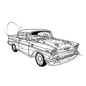 300x300 Class Act Cling Mounted Rubber Stamp 4.25 Inch X5.75 Inch 57 Chevy