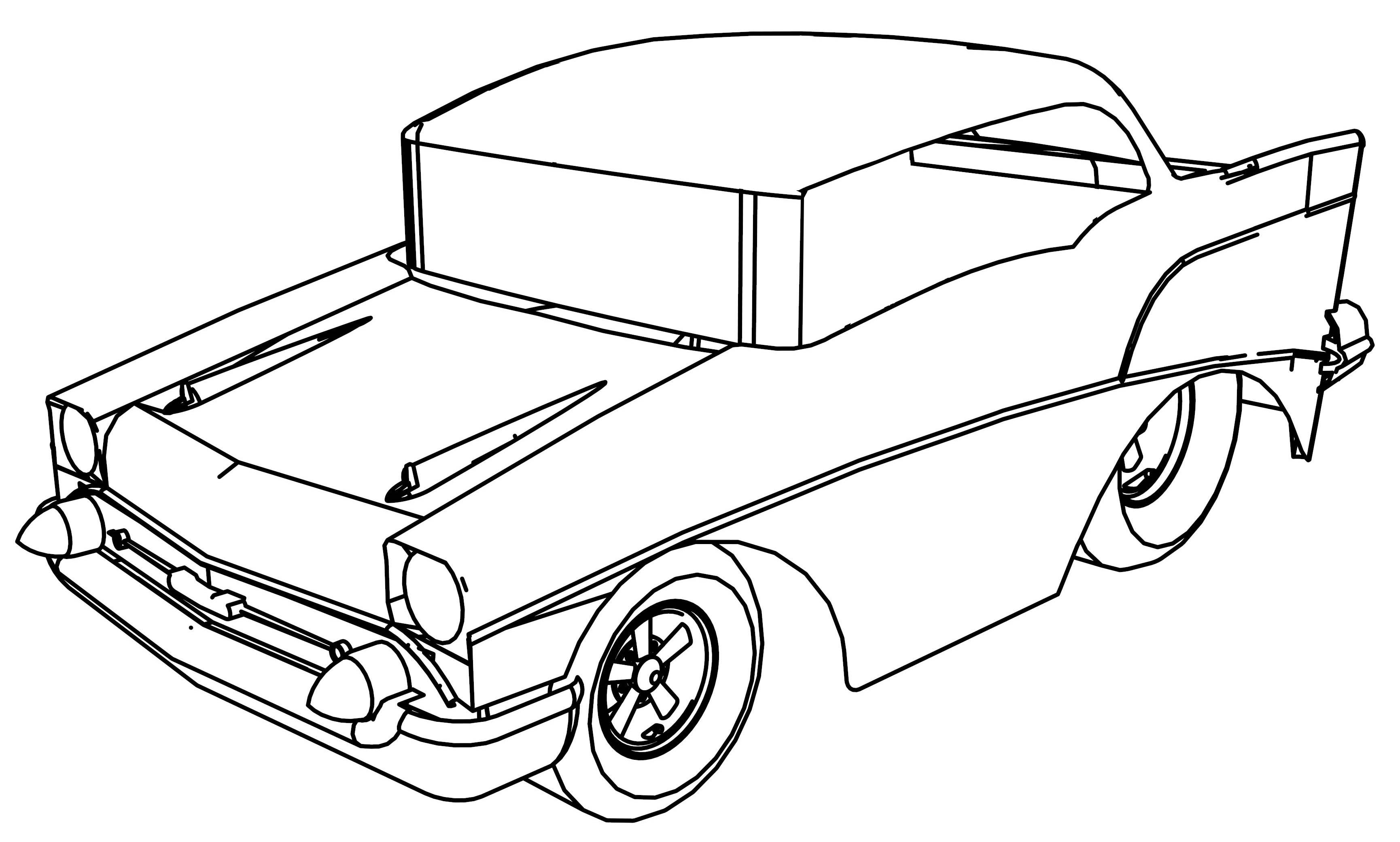 57 Chevy Drawing At Free For Personal Use Convertible Top Wiring 3460x2080 1955