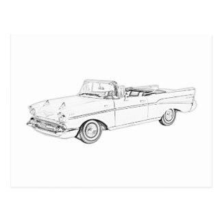 324x324 1957 Chevy Bel Air Postcards Zazzle