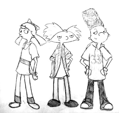 401x381 Hey Arnold 5th Grade Sketch By Ajanae79