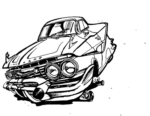 64 Impala Drawing At Getdrawings Com