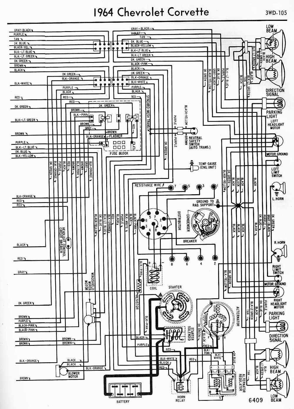 1000x1392 wiring diagram for 1964 impala