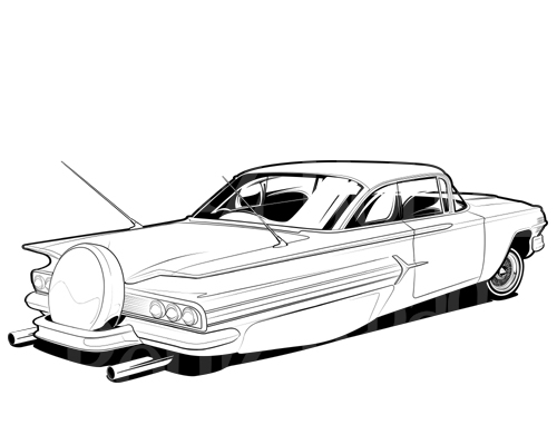 64 impala drawing at getdrawings free for personal use 64 Impala Fastback 500x400 1964 impala rc cars 1964 rc remote control helicopter airplane