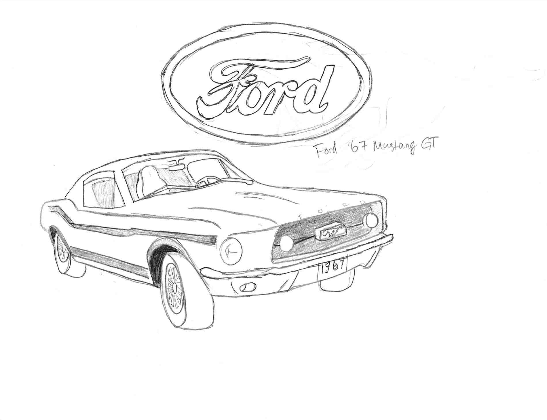 67 mustang drawing at getdrawings com