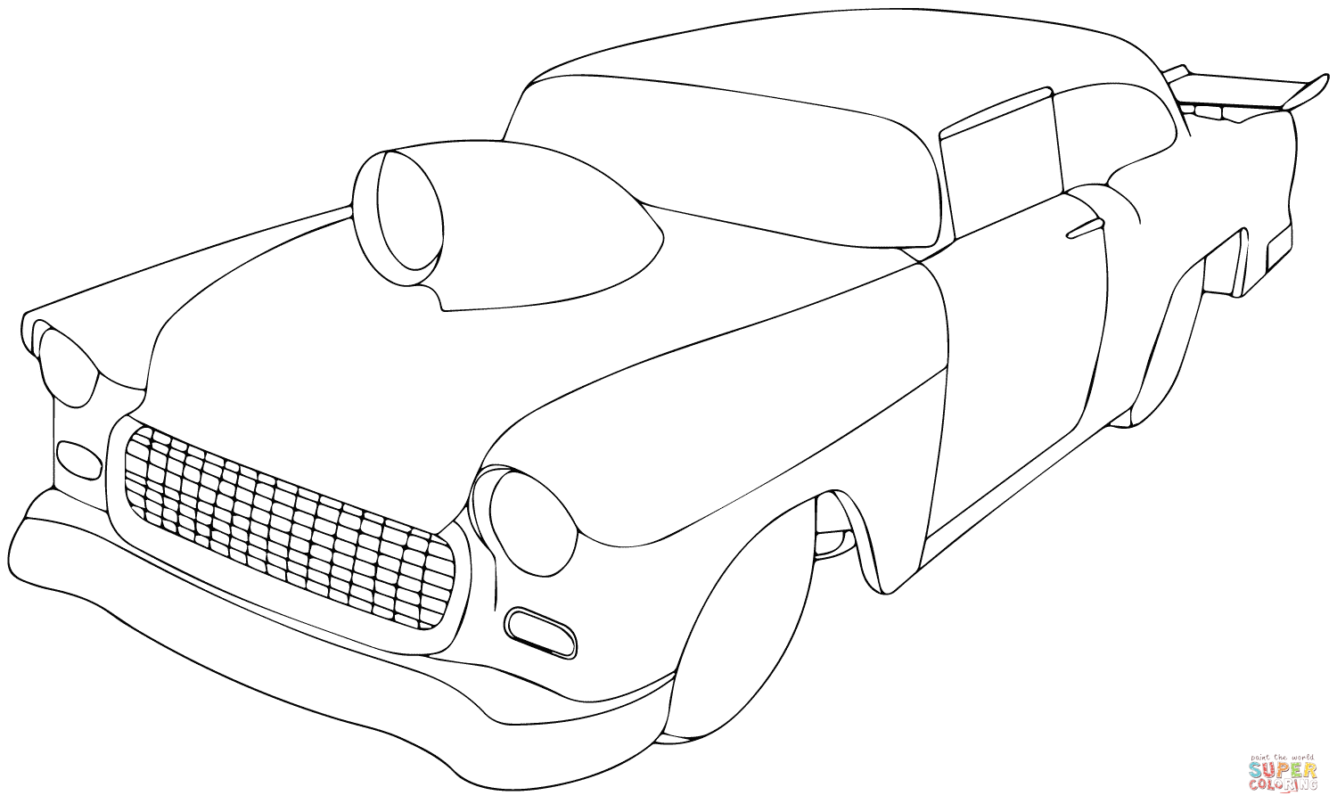 Chevy Camaro Drawing At Free For Personal Use 1957 Truck Clip 68