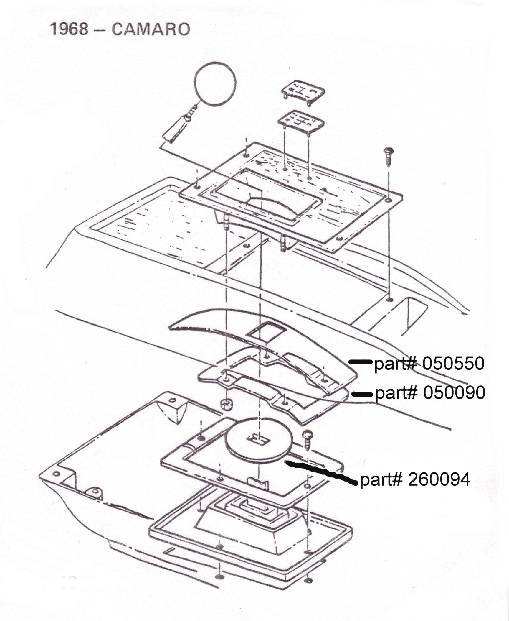 1728x2106 68 Camaro, Shifter Handle Seal, 4 Speed Upper Seal