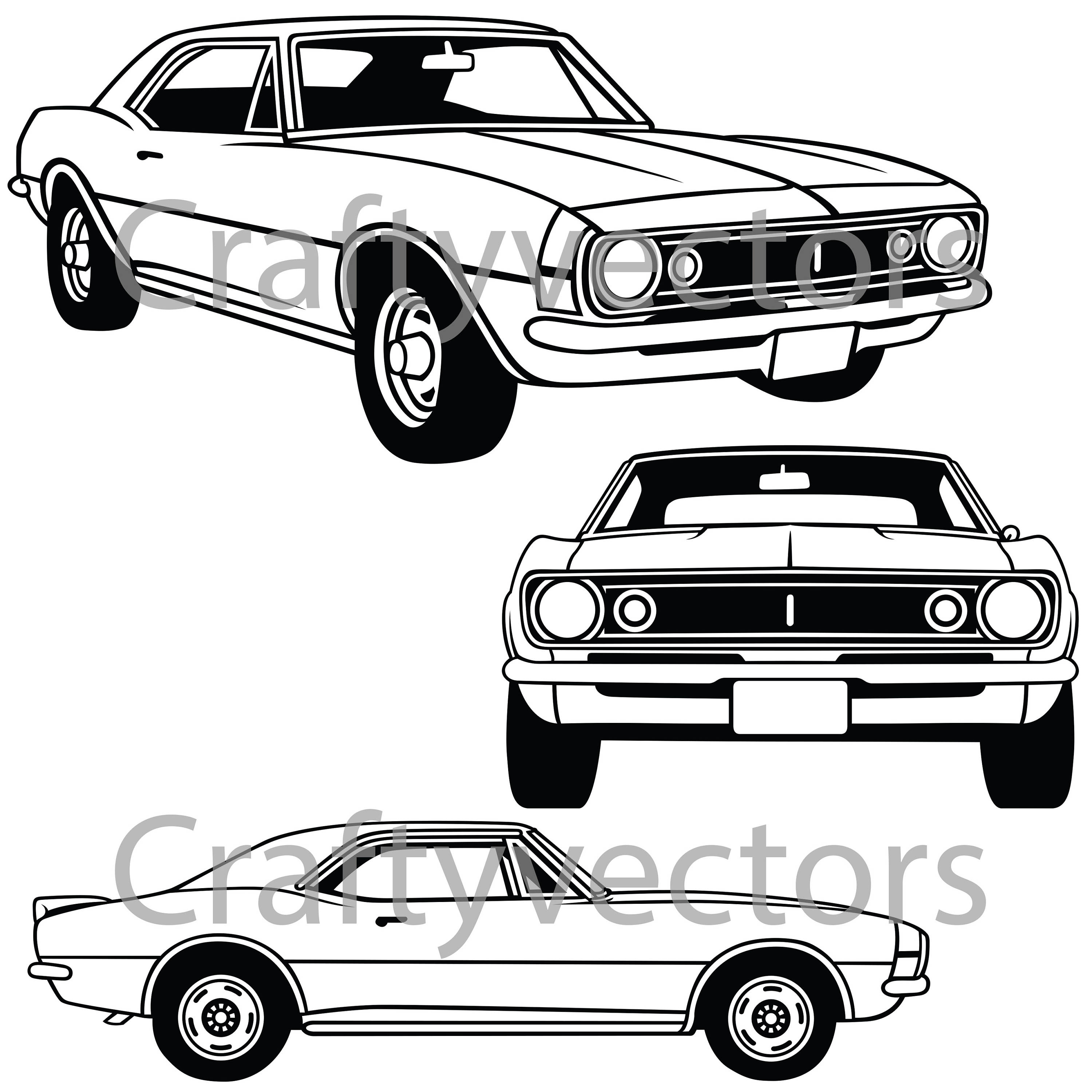 68 Camaro Drawing At Free For Personal Use 1966 Chevrolet Ss 3000x3000 Vector File
