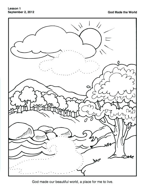 564x753 Bible Creation Coloring Pages Best Bible Activities Images On Days
