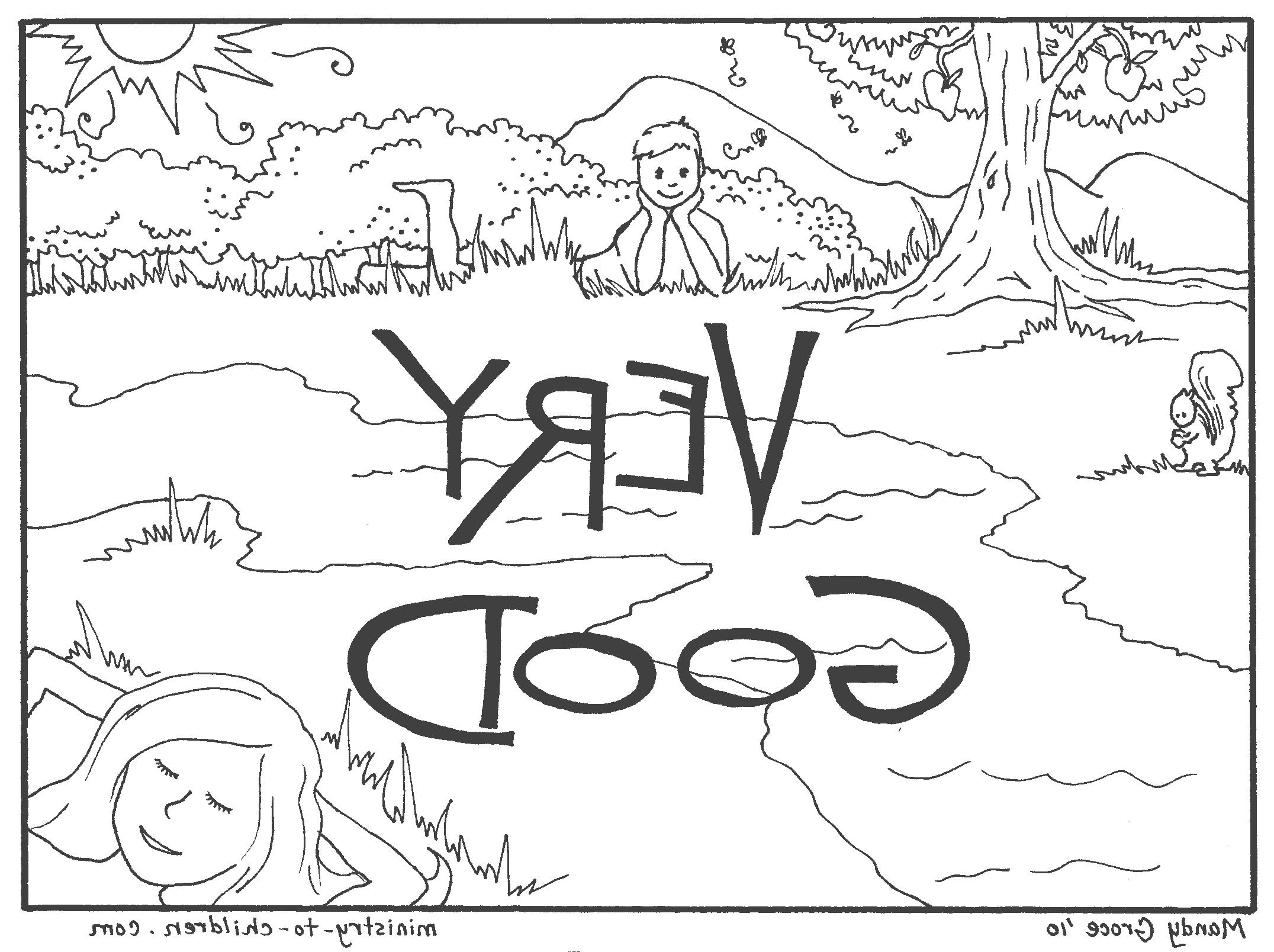 2152x1608 Coloring Page 7 Days Of Creation Fotonakal Co