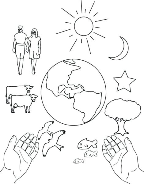 470x601 Creation Coloring Pages Photos Co Popular Seven Days Of Creation