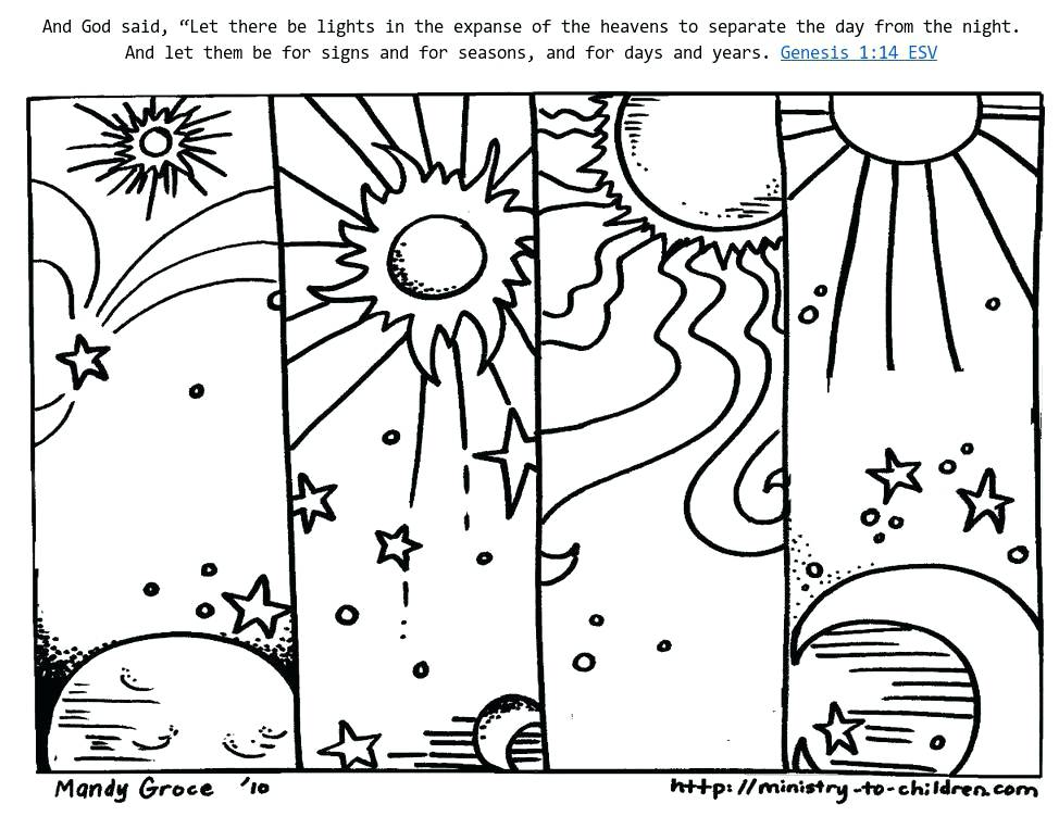 974x763 Days Of Creation Coloring Pages Free Days Of Creation Coloring
