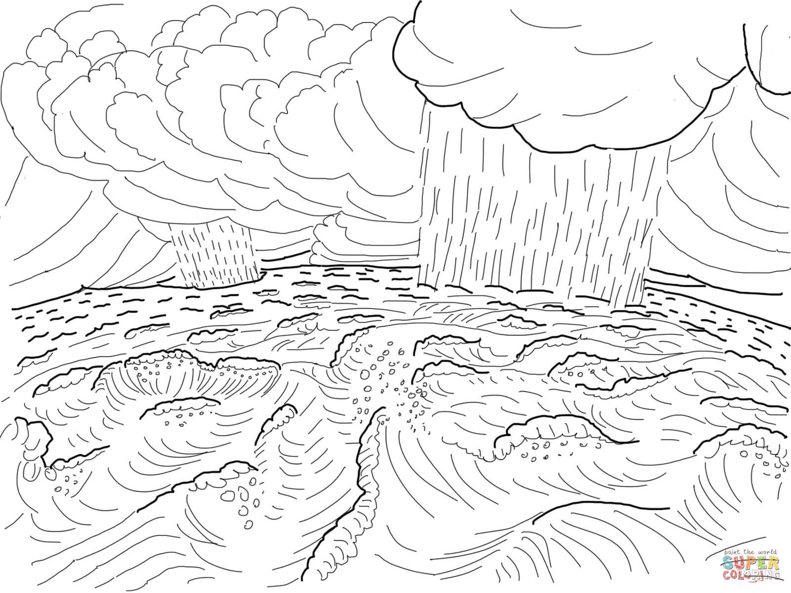1600x1200 Second Day Of Creation Coloring Page Free Printable Coloring Pages