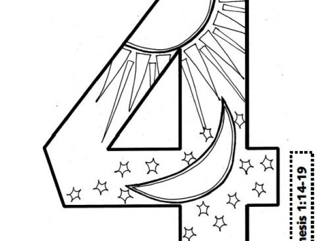 640x480 Seven Days Of Creation Coloring Pages