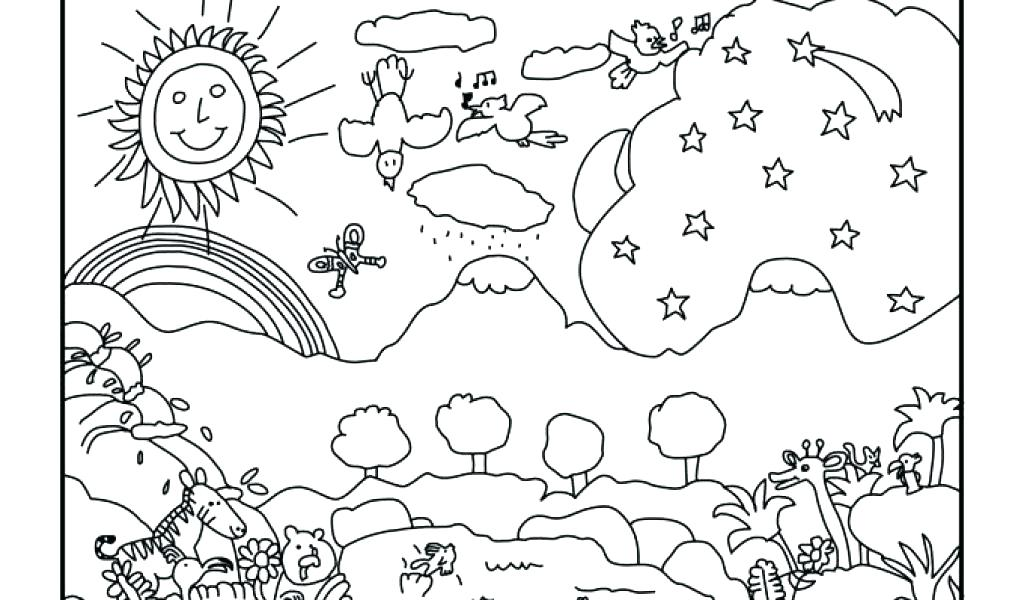 1024x600 This Is Creation Coloring Pages Images Bible Creation Coloring