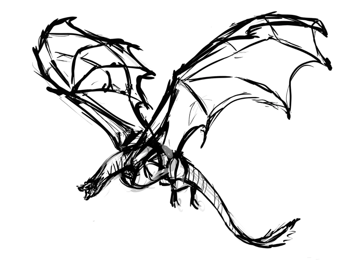700x506 How To Paint Game Of Thrones' Drogon In Sketchbook