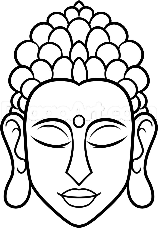 844x1214 Simple Drawing Of Buddha How To Draw Buddha Easy Step 7 Art
