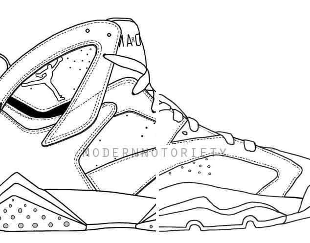 634x497 Air Jordan 7 Drawing