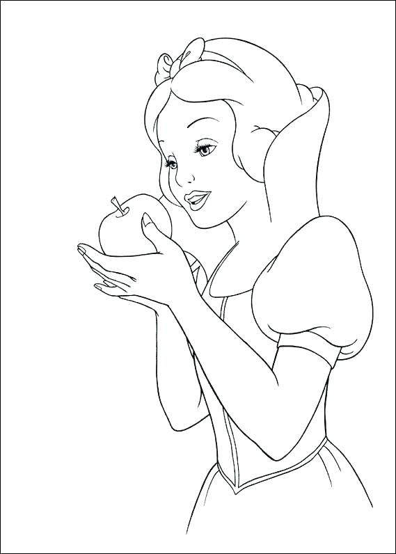 569x796 Snow White Color Pages White Coloring Pages Snow White And