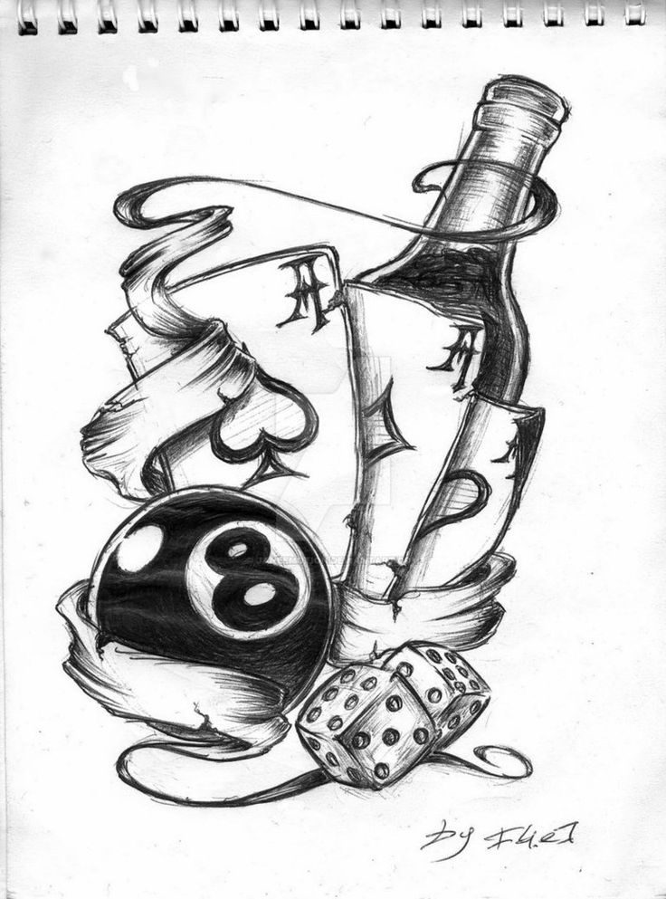 8 Ball Drawing