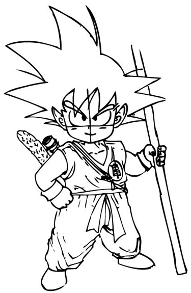 375x575 How To Draw Son Goku As A Child From Dragon Ball Z With Drawing