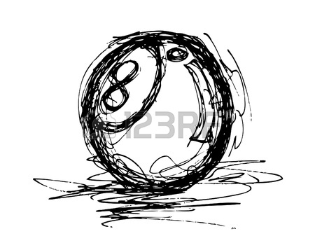 450x357 8 Ball Doodle Royalty Free Cliparts, Vectors, And Stock
