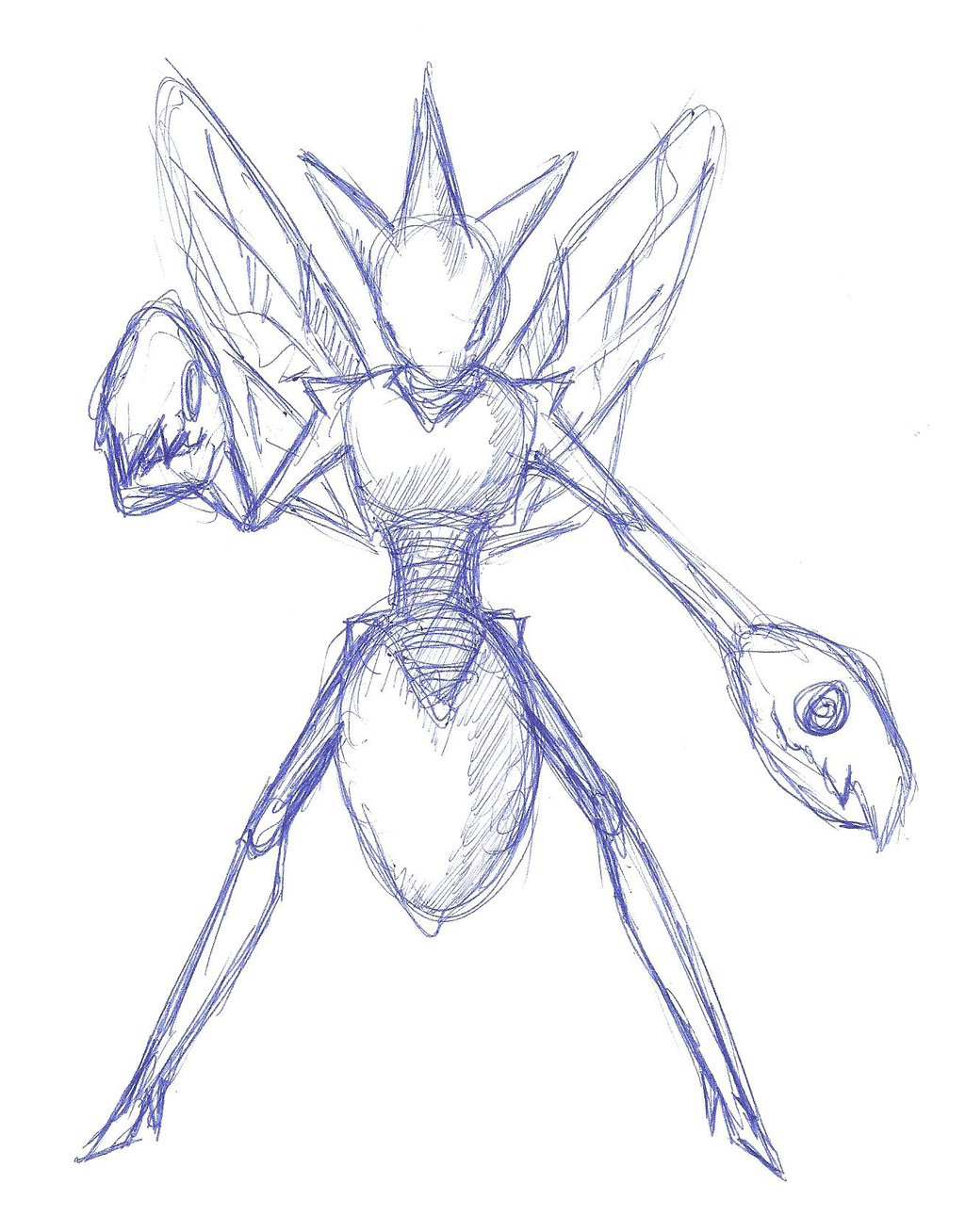 1024x1308 Draw From Memory Scizor By 8 Bit Cpu