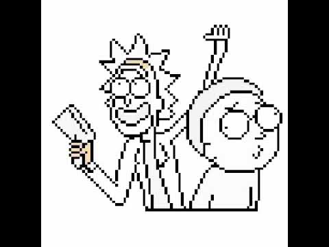 480x360 Drawing 8 Bit Rick And Morty Quick Draw