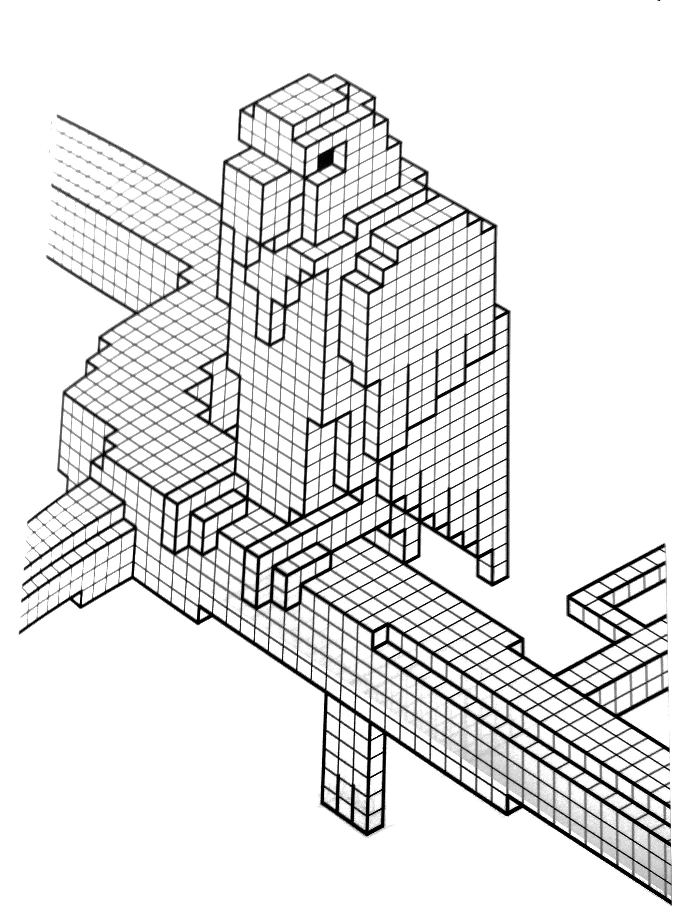 2290x3075 Pixelations. Interlocking Cubes Reminiscent Of Legos, Minecraft