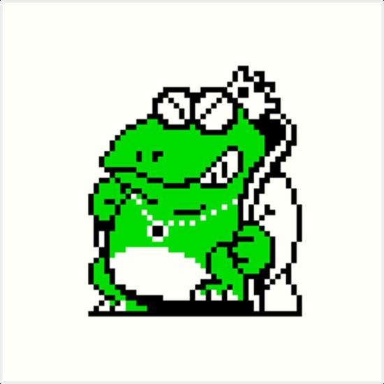 550x550 8 Bit Wart From Super Mario Bros 2 Art Prints By Karkeltay