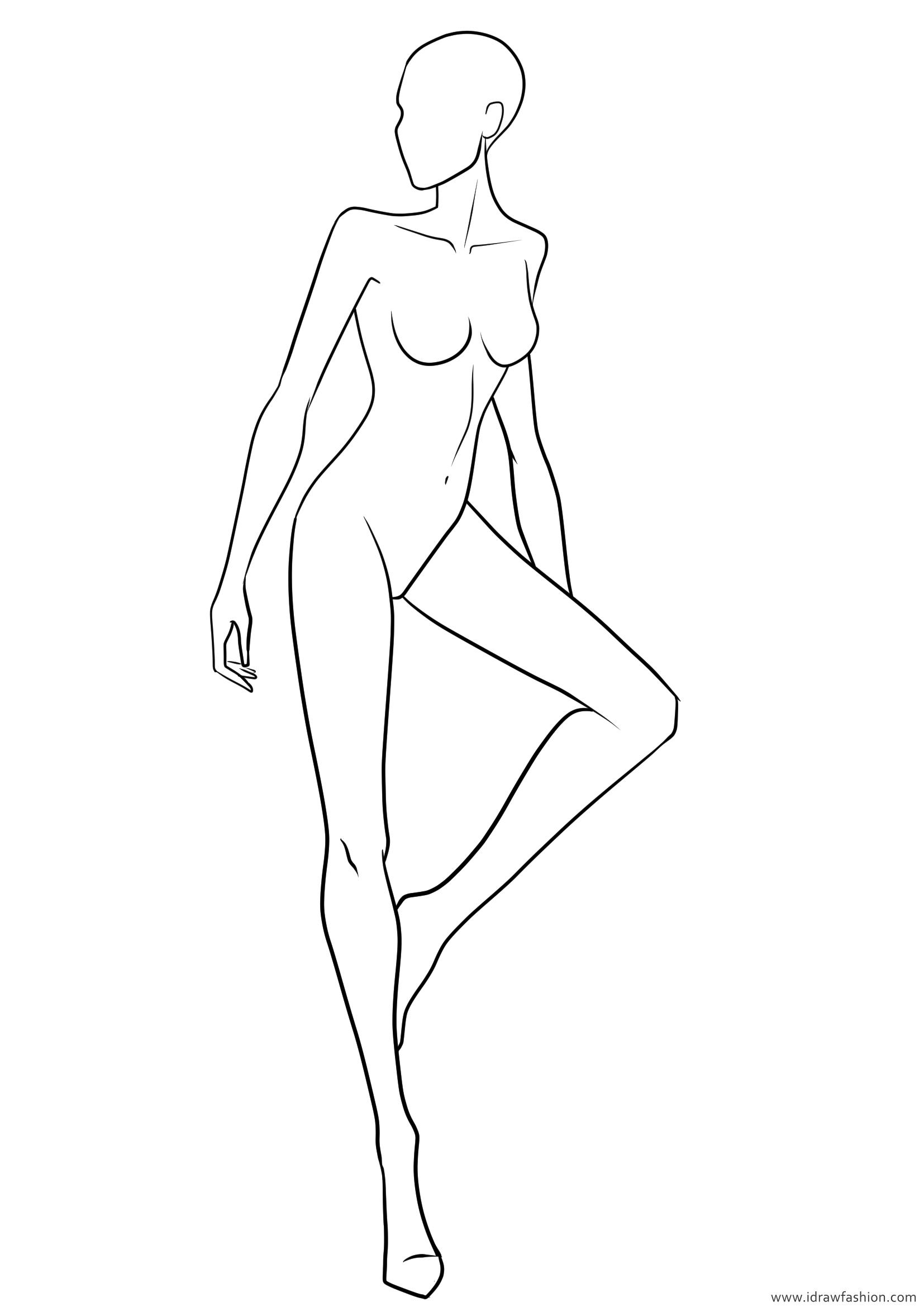 1654x2339 Download Free Fashion Templates I Draw Fashion