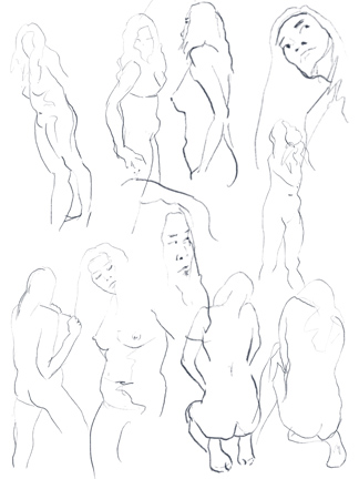 324x432 Nyack Center Figure Drawing Feb. 8, 2018 Figure Drawing Session Pam
