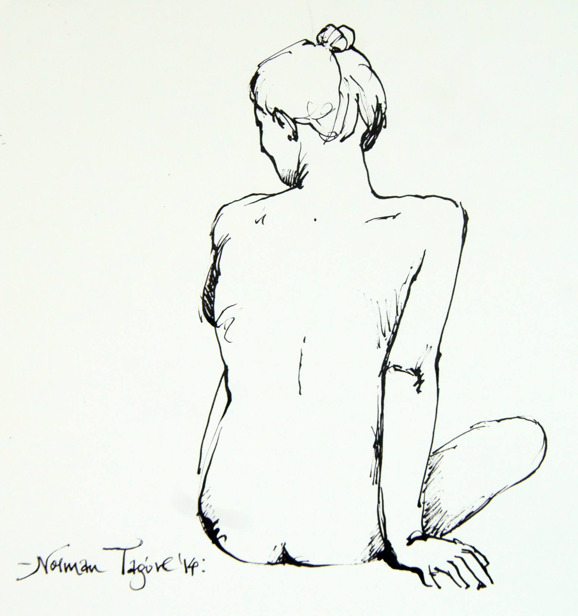 1920x2046 Saatchi Art A Nude Sketch. Drawing By Norman Tagore