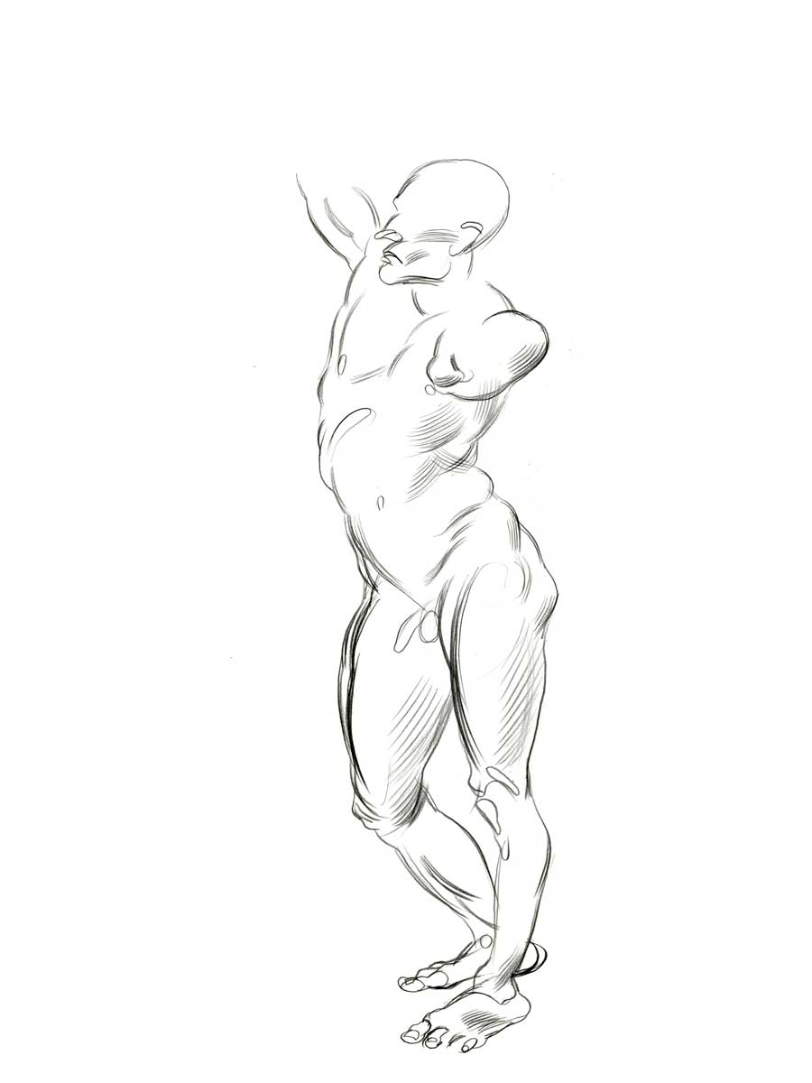 900x1200 The High Focus Drawing Blog Jeffrey Smith Figure Drawing 2002