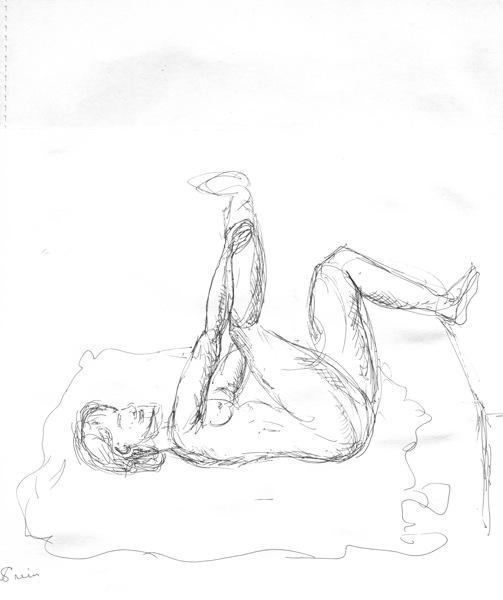 503x600 Figure Drawing Woman Walking Slowly