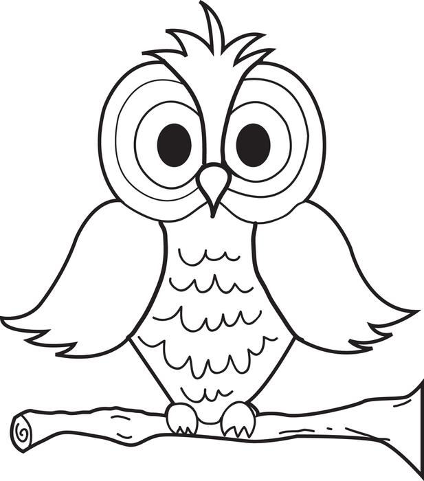 617x700 Free, Printable Cartoon Owl Coloring Page For Kids