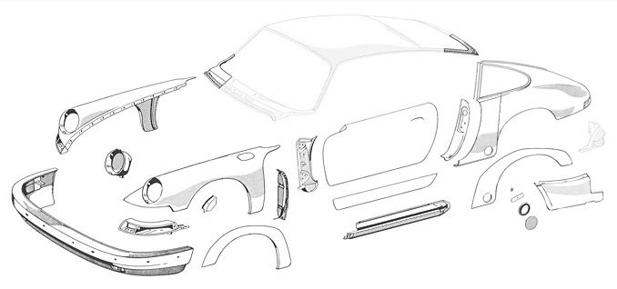 1972 Chevy Nova Body Diagrams