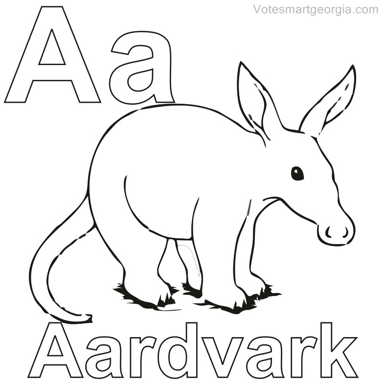 787x787 Free Aardvark Coloring Pages To Print