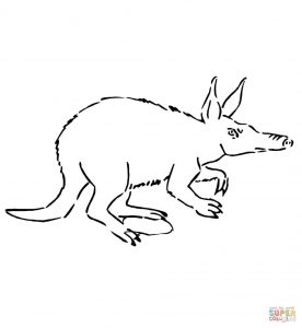 276x300 Pictures Of Aardvark Coloring Pages