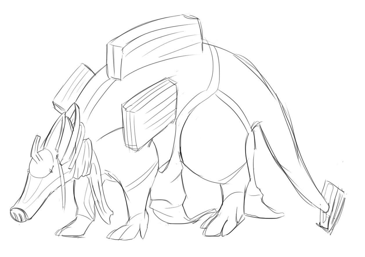 1258x887 So I Doodled This Zanuka Aardvark Umbra Thing After