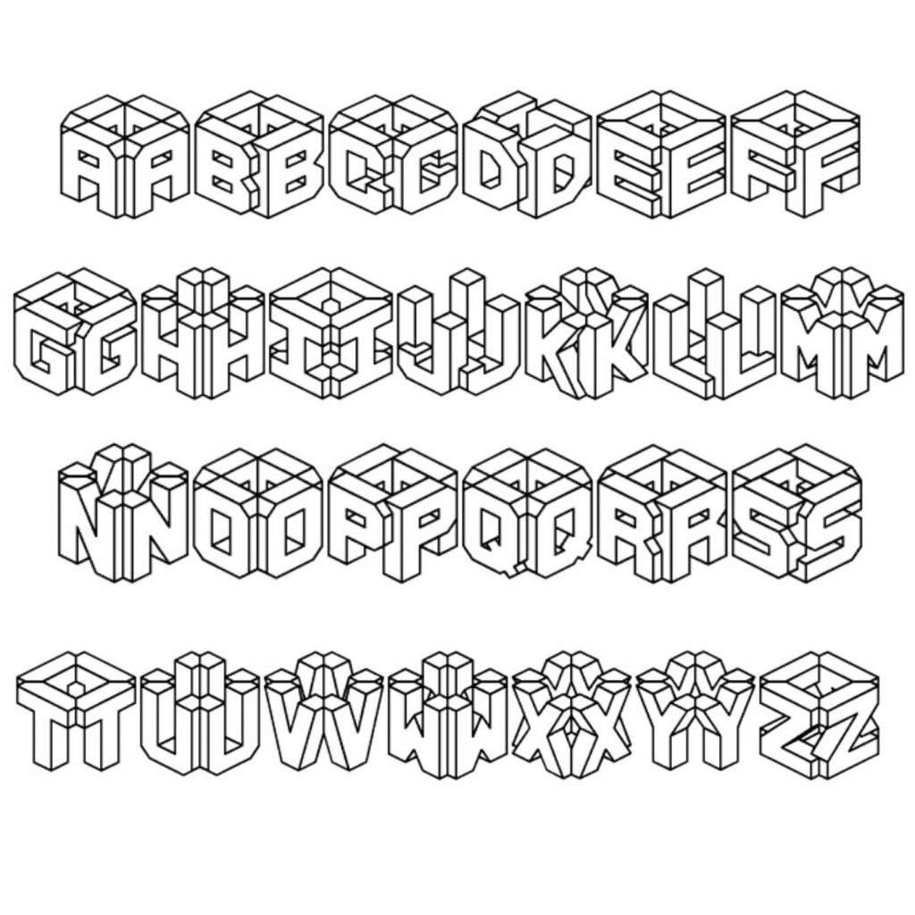 1024x1024 Draw 3d Alphabet Tutorial