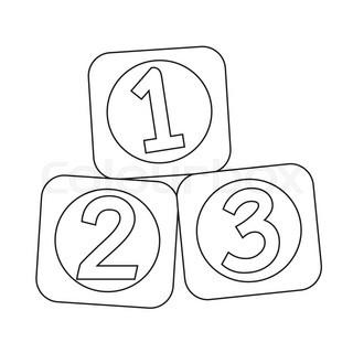 320x320 Flat Green Abc Blocks Icon And Green Circle Stock Vector Colourbox