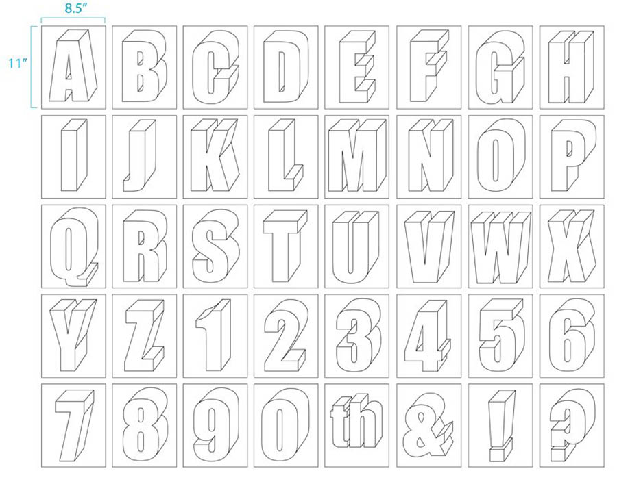 900x707 Large Size Alphabet Letter Printable Alphabet Art Projects