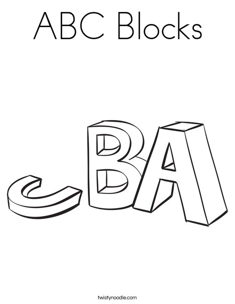 468x605 Abc Blocks Coloring Page