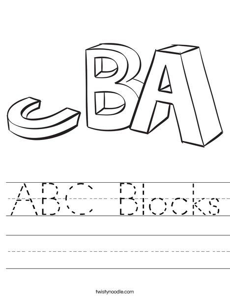 468x605 Abc Blocks Worksheet