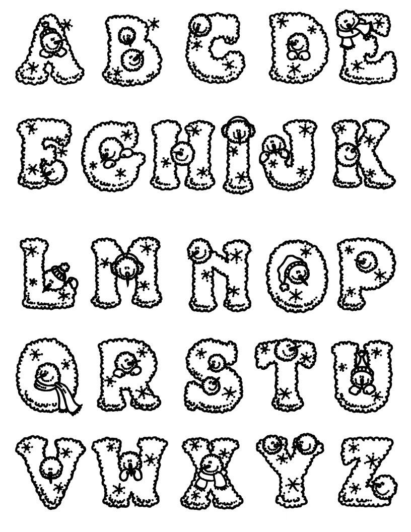 816x1056 Printable Alphabet To Colour Online Coloring Book