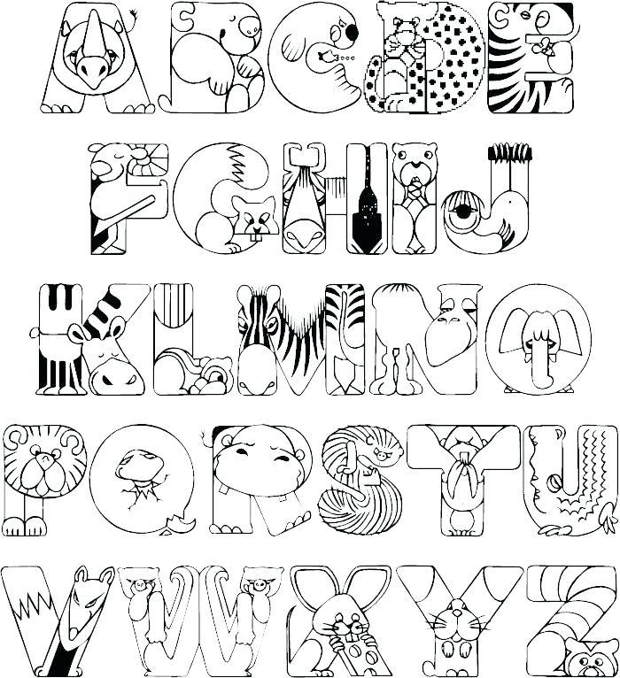 700x766 Alphabet Color Pages Cortefocal.site