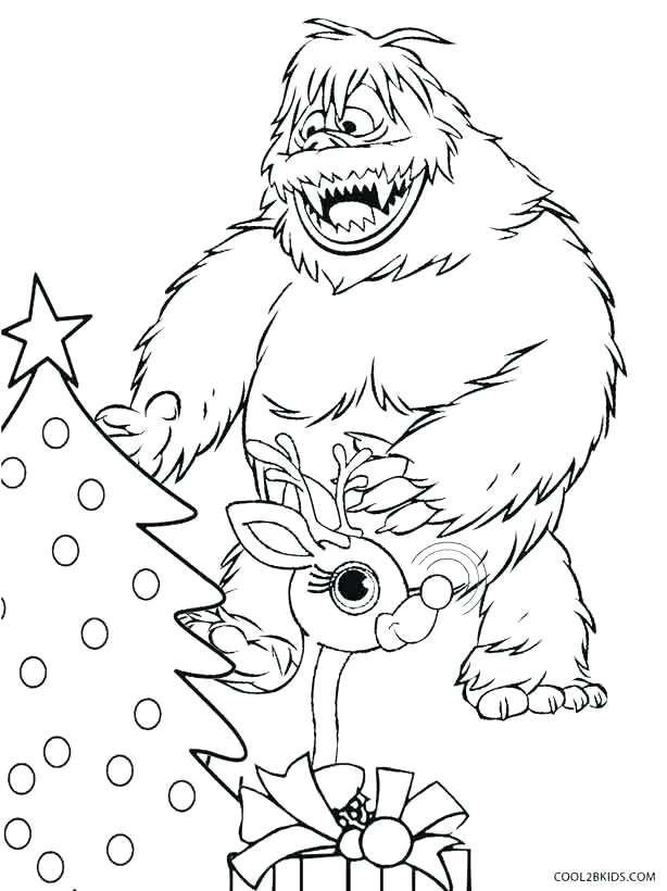 Abominable Snowman Drawing